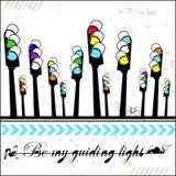 Sea mi luz de guía - tarjeta Foto de archivo libre de regalías