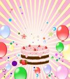 Fondo colorido con la torta Imágenes de archivo libres de regalías