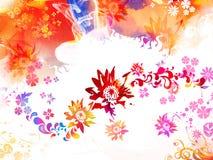 Fondo colorido con las flores Foto de archivo