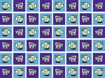 Fondo colorido con las tazas en tonos azules Imagen de archivo