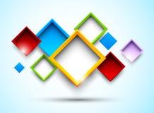 Fondo colorido con los cuadrados ilustración del vector