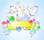 Fondo colorido con los globos Imágenes de archivo libres de regalías