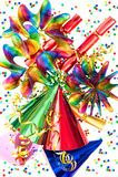 Fondo colorido con los items del partido imagen de archivo libre de regalías