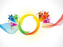 Fondo colorido creativo artístico de la onda del rainbpw del extracto ilustración del vector