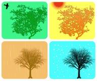 Fondo colorido de cuatro estaciones Fotografía de archivo libre de regalías
