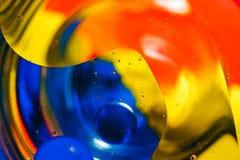Fondo colorido de descensos del agua Imagen de archivo