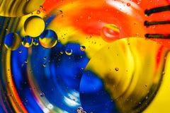 Fondo colorido de descensos del agua Fotografía de archivo