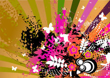 Fondo colorido de Grunge Imagen de archivo