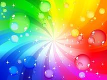 Fondo colorido de la burbuja