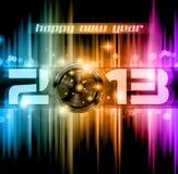 Fondo colorido de la celebración del Año Nuevo 2013 Fotos de archivo