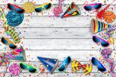 Fondo colorido de la celebración del cumpleaños del carnaval del partido Fotos de archivo libres de regalías