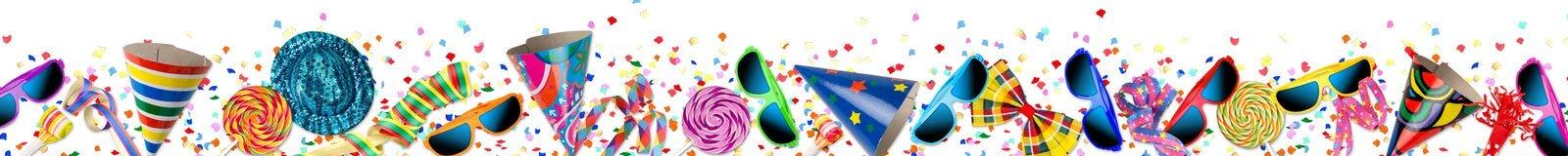 Fondo colorido de la celebración del cumpleaños del carnaval del partido Imagen de archivo