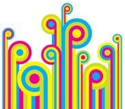 Fondo colorido de la diversión Imágenes de archivo libres de regalías
