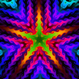 Fondo colorido de la estrella, fractal094R Fotografía de archivo