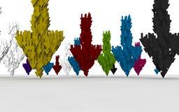 Fondo colorido de la flecha Fotografía de archivo