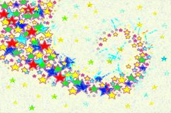 Fondo colorido de la imagen de estrellas Foto de archivo