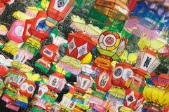 Fondo colorido de la linterna Foto de archivo libre de regalías