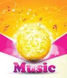 Fondo colorido de la música. stock de ilustración