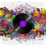 Fondo colorido de la música con el vinilo libre illustration