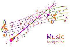 Fondo colorido de la música Orquesta abstracta del conductor stock de ilustración