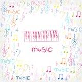 Fondo colorido de la música Vector Imagen de archivo libre de regalías