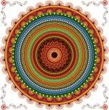 Fondo colorido de la mandala de la alheña stock de ilustración