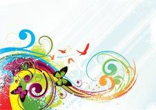 Fondo colorido de la mariposa Foto de archivo libre de regalías