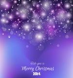 Fondo colorido 2014 de la Navidad Fotos de archivo