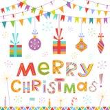 Fondo colorido de la Navidad Fotografía de archivo libre de regalías