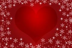 Fondo colorido de la Navidad con los copos de nieve y las estrellas imagen de archivo