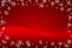 Fondo colorido de la Navidad con los copos de nieve y las estrellas imagenes de archivo