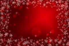 Fondo colorido de la Navidad con los copos de nieve y las estrellas fotos de archivo libres de regalías