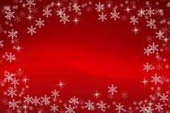 Fondo colorido de la Navidad con los copos de nieve y las estrellas imagen de archivo libre de regalías
