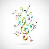 Fondo colorido de la nota musical Fotos de archivo