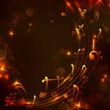 Fondo colorido de la nota musical Foto de archivo libre de regalías