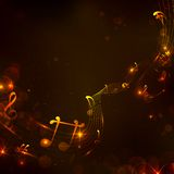 Fondo colorido de la nota musical Foto de archivo