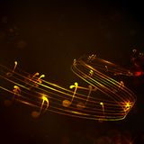 Fondo colorido de la nota musical Imagen de archivo libre de regalías