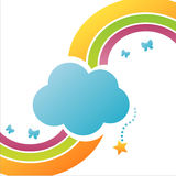 fondo colorido de la nube ilustración del vector