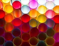 Fondo colorido de la paja Foto de archivo libre de regalías