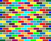 Fondo colorido de la pared de ladrillo Fotografía de archivo libre de regalías