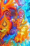 Fondo colorido de la pintada Imagen de archivo