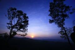 Fondo colorido de la puesta del sol Imágenes de archivo libres de regalías