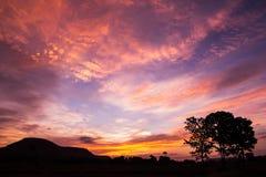 Fondo colorido de la puesta del sol Imagen de archivo