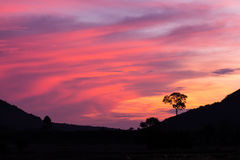 Fondo colorido de la puesta del sol Foto de archivo libre de regalías