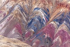Fondo colorido de la roca de la textura de la montaña Foto de archivo libre de regalías