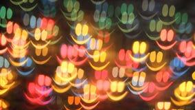 Fondo colorido de la sonrisa almacen de metraje de vídeo
