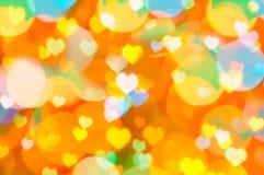 Fondo colorido de la tarjeta del día de San Valentín Fotografía de archivo