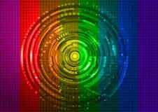 Fondo colorido de la tecnología Imagen de archivo libre de regalías