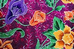Fondo colorido de la tela del paño del batik Imagen de archivo libre de regalías