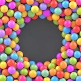 Fondo colorido de las bolas con el lugar para su contenido Ilustración del Vector